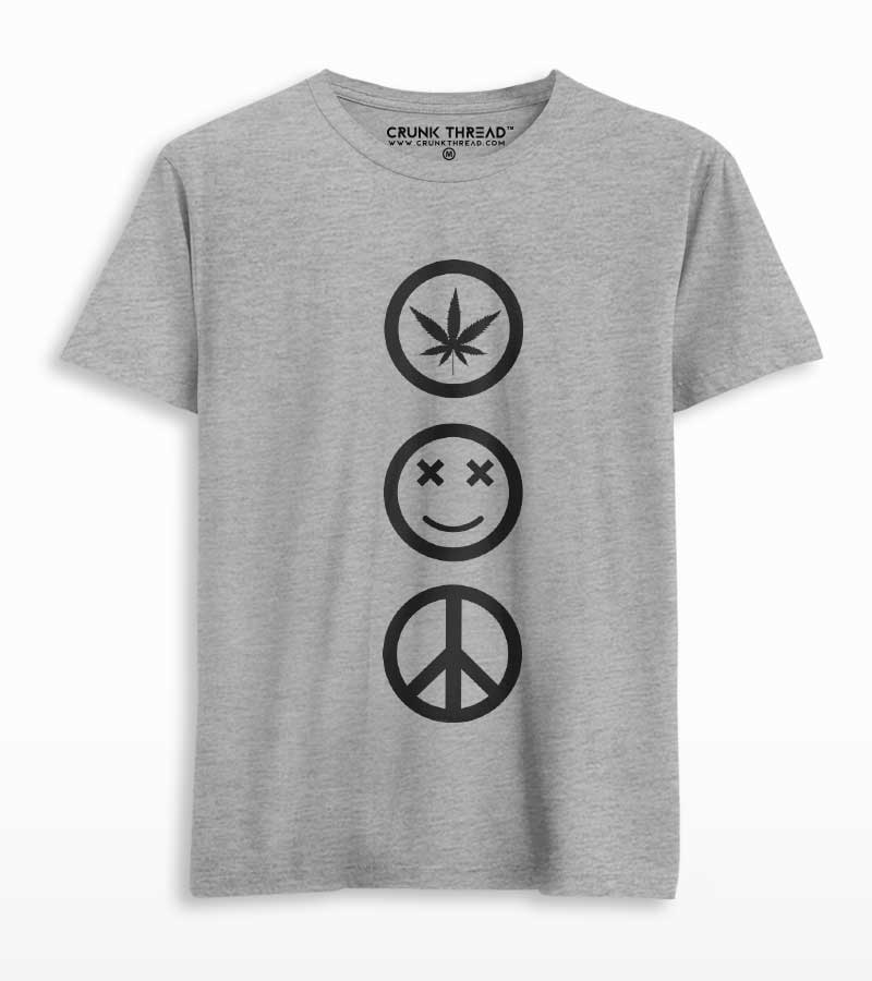 weed joy peace t shirt