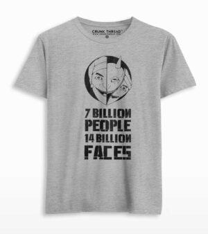 seven billion people forteen billion faces