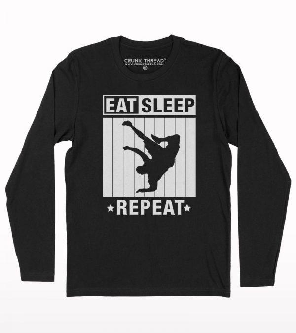 Eat sleep bboy repeat full sleeve T-shirt