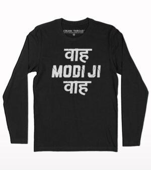Waah modiji waah full sleeve T-shirt