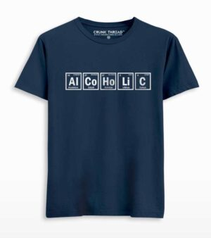 Alcoholic Periodic Table Print T-shirt