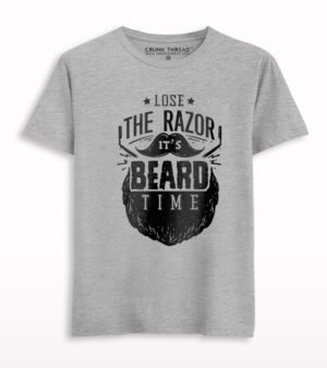 It's Beard Time Print Half Sleeve T-shirt