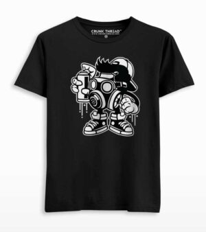 Graffiti Bomber Graphic Printed T-shirt