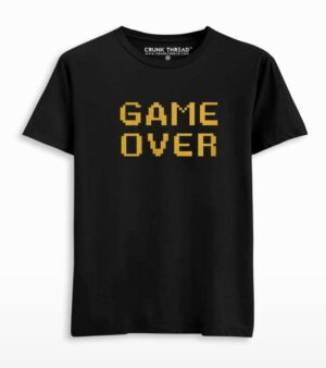 Game over printed T-shirt