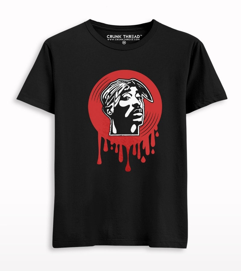 2pac Dripping Vinyl T-shirt