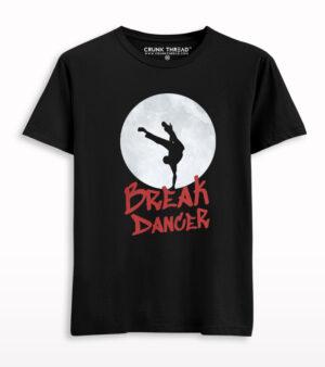 Break Dancer In Full Moon T-shirt