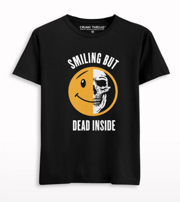 Smiling But Dead Inside Skull T-shirt