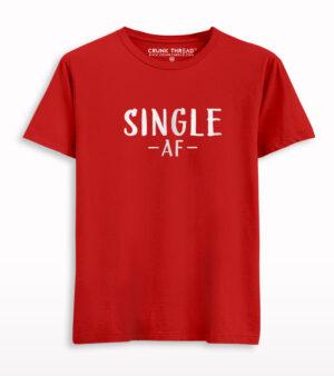 Single Af Half Sleeves T-shirt