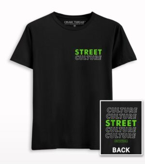 Street Culture Front-Back Neon Green Printed T-shirt