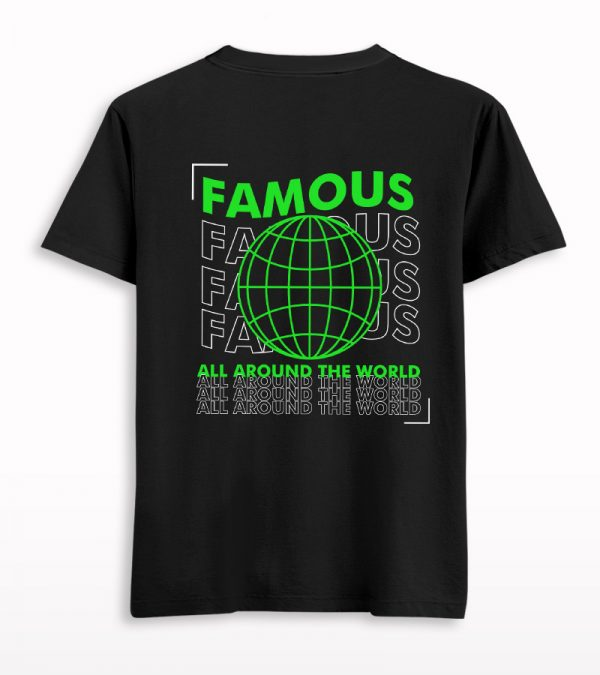Famous Worldwide Front-Back Printed T-shirt