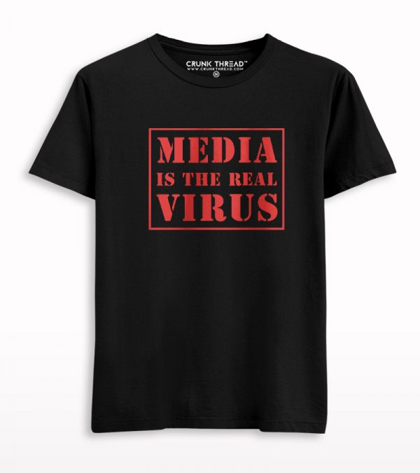 Media Is The Real Virus Printed T-shirt